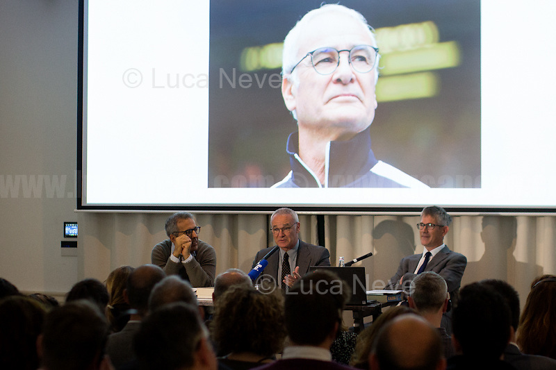 (From L to R) Marco Delogu, Claudio Ranieri &amp; John Foot.<br />