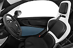 Front seat view of a 2012 - 2014 Renault Twizy Technic 80 Micro Car.