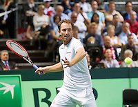 Switserland, Genève, September 19, 2015, Tennis,   Davis Cup, Switserland-Netherlands, Matwe Middelkoop (NED)<br /> Photo: Tennisimages/Henk Koster