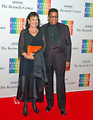 Herbie Hancock and his wife, Gigi,  arrive for the formal Artist's Dinner honoring the recipients of the 2013 Kennedy Center Honors hosted by United States Secretary of State John F. Kerry at the U.S. Department of State in Washington, D.C. on Saturday, December 7, 2013. The 2013 honorees are: opera singer Martina Arroyo; pianist,  keyboardist, bandleader and composer Herbie Hancock; pianist, singer and songwriter Billy Joel; actress Shirley MacLaine; and musician and songwriter Carlos Santana.<br /> Credit: Ron Sachs / CNP