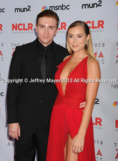 PASADENA, CA- SEPTEMBER 27: Actors Daryl Sabara and Alexa Vega  pose in the press room at the 2013 NCLA ALMA Awards at Pasadena Civic Auditorium on September 27, 2013 in Pasadena, California.