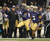 Keishawn Bierria returns a fumble, his school record-tying eighth fumble return as a Husky.
