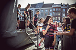 Katarzyna Niewiadoma (POL) Canyon-Sram Racing at the Team presentation of La Fleche Wallonne Femmes 2018 running 118.5km from Huy to Huy, Belgium. 17/04/2018.<br /> Picture: ASO/Thomas Maheux | Cyclefile.<br /> <br /> All photos usage must carry mandatory copyright credit (&copy; Cyclefile | ASO/Thomas Maheux)