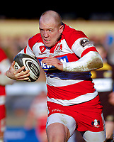 Mike Tindall on his way to giving Gloucester a crucial score in the second half. Guinness Premiership match between London Wasps and Gloucester on March 7, 2010 at Adams Park in High Wycombe, England. [Mandatory Credit: Patrick Khachfe/Onside Images]