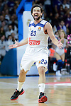Real Madrid's Sergio Llull during Turkish Airlines Euroleague match between Real Madrid and Darussafaka Dogus at Wizink Center in Madrid, Spain. February 24, 2017. (ALTERPHOTOS/BorjaB.Hojas)