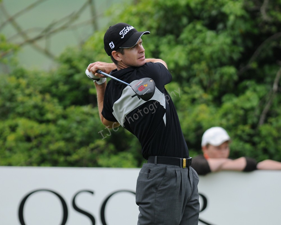 Leader Scott Strange tees of the 4rd. Celtic Manor Wales Open 2008 © IJC Photography 2008, iancook@ijcphotography.co.uk..