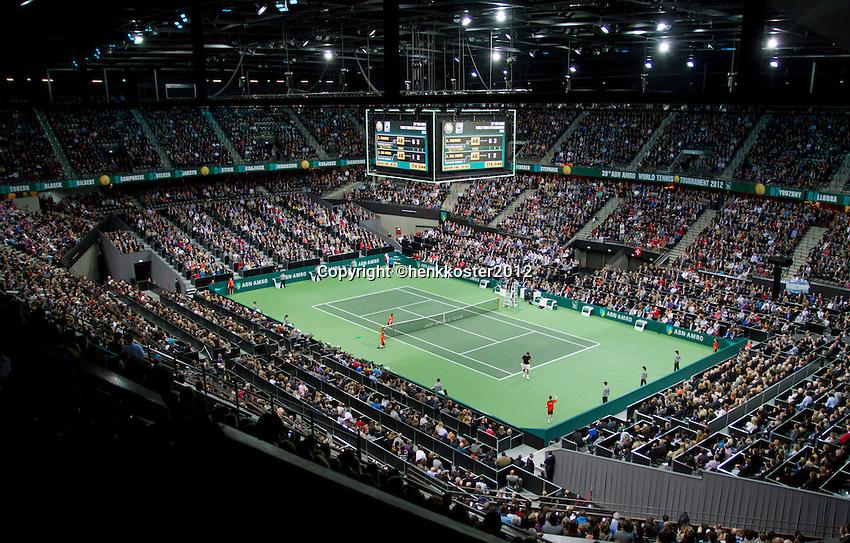 19-02-12, Netherlands,Tennis, Rotterdam, ABNAMRO WTT, Roger Federer tegen Juan Martin Del Potro