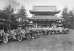 Harley-Davidson in front of an historical temple