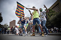 BOGOTÁ -COLOMBIA. 30-06-2019: Cientos de personas participaron en la Marcha LGBTI 2019 realizada por las calles del centro de Bogotá, Colombia, hoy 30 de junio de 2019. / Hundred of people gathered to participate in the Gay Pride Parade 2019 on June 30, 2019 that be held by the main streets of the downtown of Bogota, Colombia. Photo: VizzorImage/ Nicolas Aleman / Staff