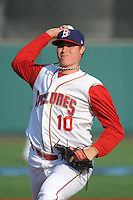 Brooklyn Cyclones pitcher Corey Oswalt (10) during game against the Staten Island Yankees at MCU Park on June 29, 2014 in Brooklyn, NY.  Staten Island defeated Brooklyn 5-4.  (Tomasso DeRosa/Four Seam Images)