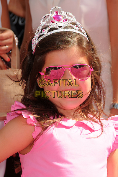 Sophia Grace Brownlee.FOX's 2012 Teen Choice Awards held at The Gibson Ampitheatre in Universal City, California, USA..July 22nd, 2012.headshot portrait pink tiara sunglasses shades .CAP/ADM/BP.©Byron Purvis/AdMedia/Capital Pictures.