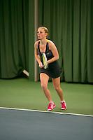 Rotterdam, The Netherlands, 15.03.2014. NOJK 14 and 18 years ,National Indoor Juniors Championships of 2014, Britt Schreuder (NED)<br /> Photo:Tennisimages/Henk Koster