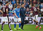 Hearts v St Johnstone...02.08.15   SPFL Tynecastle, Edinburgh<br /> Chris Millar goes off injured<br /> Picture by Graeme Hart.<br /> Copyright Perthshire Picture Agency<br /> Tel: 01738 623350  Mobile: 07990 594431