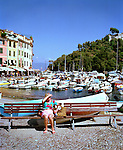 Woman in Portofino, Liguria, ITALY