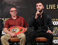 BEVERLY HILLS - MAY 22: Richie Plant and Caleb Plant attend a press conference in Beverly Hills for the Caleb Plant v Mike Lee Super Middleweight Championship fight on Premier Boxing Champions on FOX Sports Pay-Per-View event on Saturday July 20 in Las Vegas. (Photo by Frank Micelotta/Fox Sports/PictureGroup)