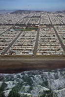 aerial photograph Sunset district residential neighborhood San Francisco California