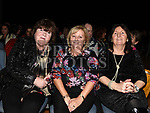 Kathleen Carter, Mary Smith and Paula Reilly at the Elvis show in the Barbican Centre. Photo:Colin Bell/pressphotos.ie