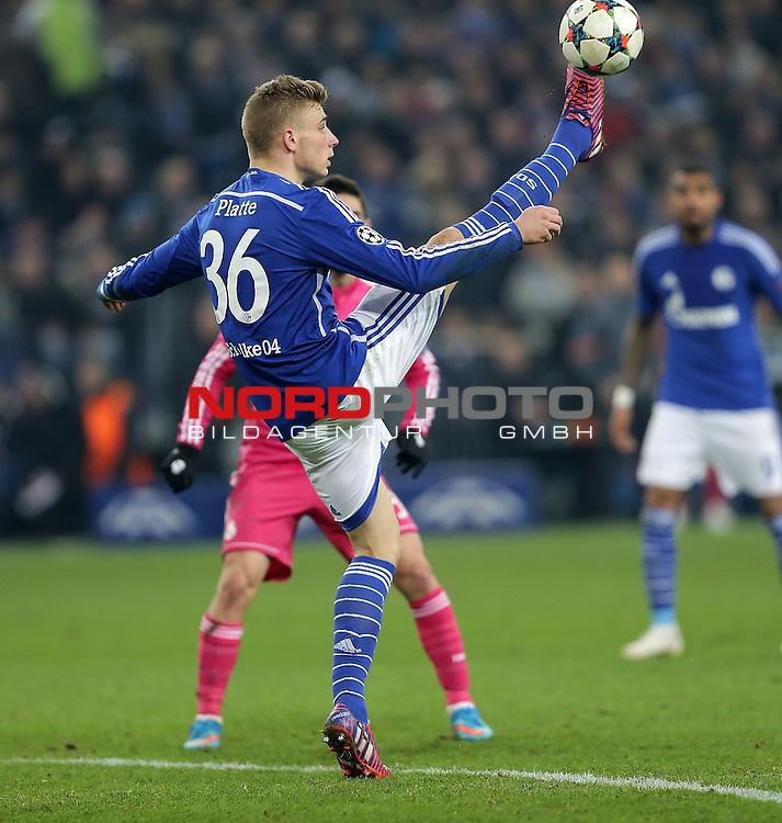18.02.2015, Veltins-Arena, Gelsenkirchen, Championsleague, FC Schalke 04 vs. Real Madrid<br /> Felix Platte (Schalke)<br /> Foto &copy; nordphoto /  Bratic