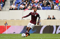 Jaime Castrillon (23) of the Colorado Rapids. The New York Red Bulls defeated the Colorado Rapids 4-1 during a Major League Soccer (MLS) match at Red Bull Arena in Harrison, NJ, on March 25, 2012.