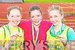Niamh Coffey, Gillian Murphy and Catherine Coffey Gneeveguilla competing at the Kerry AAI Championships in Castleisland on Sunday   Copyright Kerry's Eye 2008