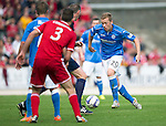 St Johnstone v Aberdeen...23.08.14  SPFL<br /> Scott Brown moves forward<br /> Picture by Graeme Hart.<br /> Copyright Perthshire Picture Agency<br /> Tel: 01738 623350  Mobile: 07990 594431