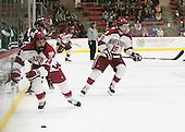 Geoff Ferguson (Dartmouth - 4), Alexander Kerfoot (Harvard - 14), Jimmy Vesey (Harvard - 19) - The Harvard University Crimson tied the visiting Dartmouth College Big Green 3-3 in both team's first game of the season on Saturday, November 1, 2014, at Bright-Landry Hockey Center in Cambridge, Massachusets.