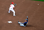 31 March 2011: Atlanta Braves third baseman Chipper Jones slides safely into second with a first inning double during Opening Day action against the Washington Nationals at Nationals Park in Washington, District of Columbia. The Braves shut out the Nationals 2-0 to start off the 2011 Major League Baseball season. Mandatory Credit: Ed Wolfstein Photo