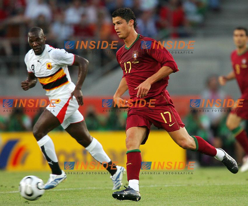 Koln 11/6/2006 World Cup 2006.Angola Portugal - Angola Portogallo 0-1.Photo Andrea Staccioli Insidefoto.Cristiano Ronaldo Portogallo