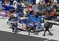 Apr 28, 2007; Talladega, AL, USA; Nascar Busch Series driver David Gilliland (25) pits during the Aarons 312 at Talladega Superspeedway. Mandatory Credit: Mark J. Rebilas
