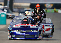 Nov 2, 2014; Las Vegas, NV, USA; NHRA pro stock driver Jason Line during the Toyota Nationals at The Strip at Las Vegas Motor Speedway. Mandatory Credit: Mark J. Rebilas-USA TODAY Sports
