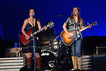 The Wreckers' Michelle Branch and Jessica Harp perform at the Toyota Center Thursday July 5,2007.(Dave Rossman/For the Chronicle)