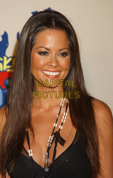 BROOKE BURKE.Spike TV Video Game Awards 2004 held at the Barker Hangar. .December 14th, 2004.Photo Credit: Laura Farr/AdMedia.headshot portrait necklaces.www.capitalpictures.com.sales@capitalpictures.com.© Capital Pictures.