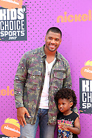 LOS ANGELES - July 13:  Russell Wilson, Future Zahir Wilbu at the Nickelodeon Kids' Choice Sports Awards 2017 at the Pauley Pavilion on July 13, 2017 in Westwood, CA