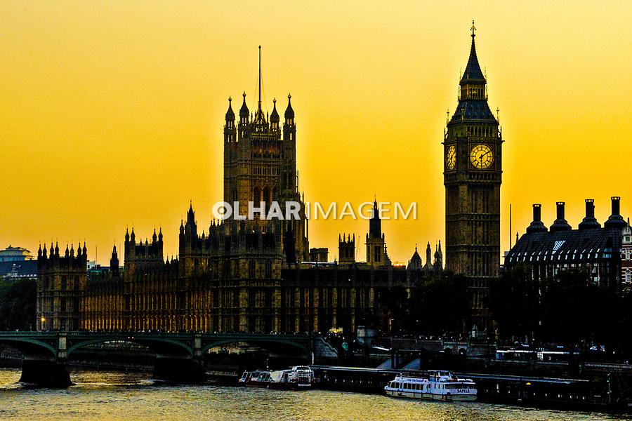 Edifício do Parlamento e torre do Big Ben. Londres. Inglaterra. 2008. Foto de Juca Martins.