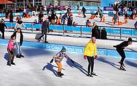 Nederland Amsterdam 2018. De Coolste Baan van Nederland. Tijdelijke ijsbaan in het Olympisch Stadion in Amsterdam. Foto mag niet in negatieve context worden gebruikt.  Foto Berlinda van Dam / Hollandse Hoogte