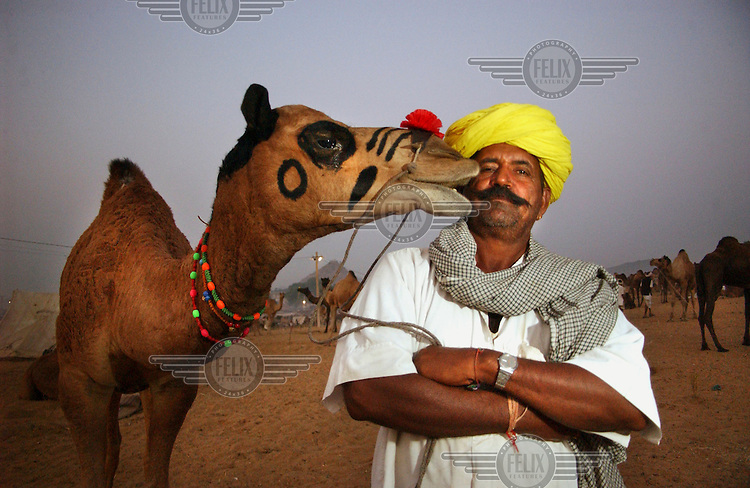 Camel trader Jelha Ram attends the annual market at Pushkar, the largest camel fair in the world.