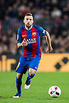 Jordi Alba Ramos of FC Barcelona in action during their Copa del Rey 2016-17 Semi-final match between FC Barcelona and Atletico de Madrid at the Camp Nou on 07 February 2017 in Barcelona, Spain. Photo by Diego Gonzalez Souto / Power Sport Images