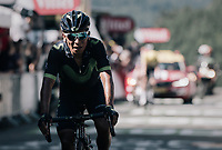 Nairo Quintana (COL/Movistar) finishing<br /> <br /> 104th Tour de France 2017<br /> Stage 5 - Vittel &rsaquo; La Planche des Belles Filles (160km)