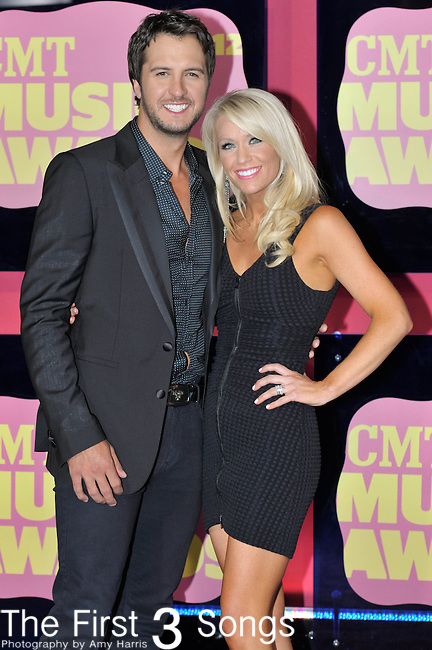 Luke Bryan and wife Caroline attend the 11th Annual CMT Awards in Nashville, TN on June 6, 2012.
