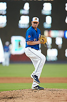 Durham Bulls starting pitcher Brendan McKay (33) in action against the Louisville Bats at Durham Bulls Athletic Park on May 28, 2019 in Durham, North Carolina. The Bulls defeated the Bats 18-3. (Brian Westerholt/Four Seam Images)