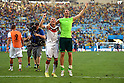 (L-R) Bastian Schweinsteiger, Manuel Neuer (GER), JULY 4, 2014 - Football / Soccer : Bastian Schweinsteiger and Manuel Neuer of Germany celebrate after winning the FIFA World Cup Brazil 2014 quarter-finals match between France 0-1 Germany at Estadio do Maracana in Rio de Janeiro, Brazil. (Photo by FAR EAST PRESS/AFLO)