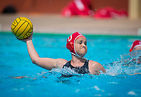 STANFORD, CA - April 20, 2019: Ryann Neushul at Avery Aquatic Center. The #1 Stanford Cardinal took down the #20 San Jose State Spartans 22-4.
