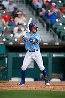 Buffalo Bisons Patrick Kivlehan (14) bats during an International League game against the Pawtucket Red Sox on August 25, 2019 at Sahlen Field in Buffalo, New York.  Buffalo defeated Pawtucket 5-4 in 11 innings.  (Mike Janes/Four Seam Images)