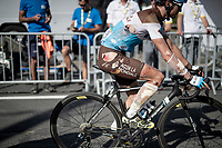 Alexis Vuillermoz (FRA/AG2R La Mondiale) crossing the finish line in bandages<br /> <br /> Stage 9: Saint-Étienne to Brioude (170km)<br /> 106th Tour de France 2019 (2.UWT)<br /> <br /> ©kramon