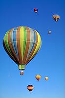 Hot air balloon; festival; Albuquerque; New Mexico; USA; ballooning; blue sky;  sport