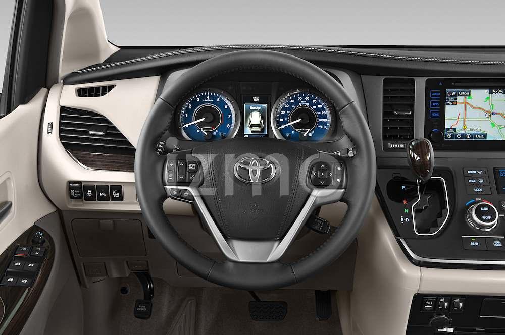 Car pictures of steering wheel view of a 2017 Toyota Sienna XLE 5 Door Minivan Steering Wheel