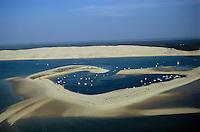 Europe/France/Aquitaine/33/Gironde/Bassin d'Arcachon: Dune du Pilat et banc d'Arguin - Vue aérienne