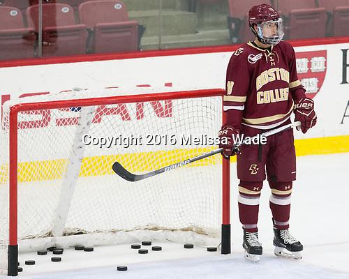 Colin White (BC - 18) - The Harvard University Crimson defeated the visiting Boston College Eagles 5-2 on Friday, November 18, 2016, at the Bright-Landry Hockey Center in Boston, Massachusetts.