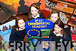 Students from St. Joseph's Secondary School in Abbeyfeale who are representing Munster at an Enviornmental Project in Brussells for four days later this month..L/r. Katie Daly (Abbeyfeale), Rebecca Ward (Abbeyfeale), Corinna Kiely (Brosna) and Elaine Stryker (Knocknagoshel)