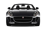 Car photography straight front view of a 2017 Jaguar F-TYPE - 2 Door Convertible Front View
